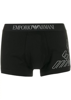 Armani logo print boxers