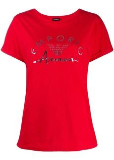 Armani logo-print crew neck T-shirt