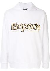 Armani logo print hoodie