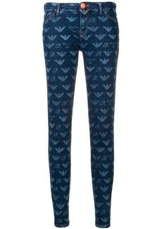 Armani logo print jeans