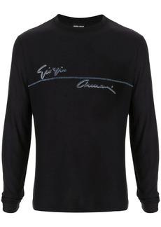 Armani logo print jumper