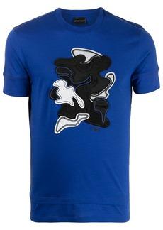Armani logo-print patch-detail T-Shirt