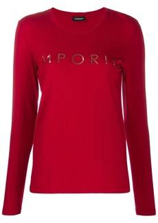 Armani logo print pyjama top