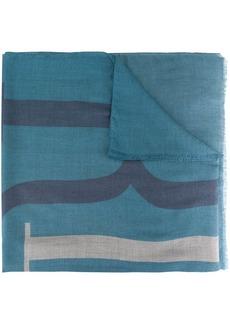 Armani logo print scarf
