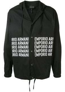 Armani logo print shirt jacket