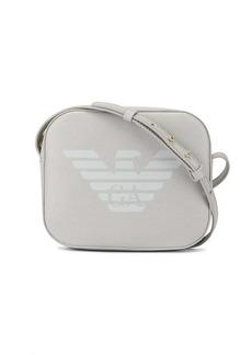 Armani logo print shoulder bag