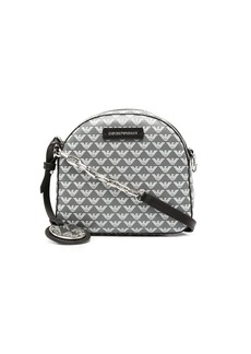 Armani logo print shoulder bag