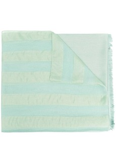 Armani logo-print silk-blend scarf