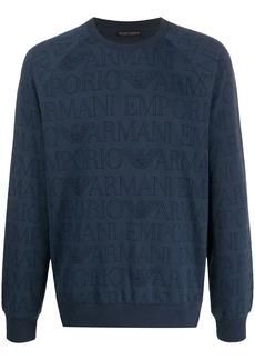 Armani logo print sleeping sweatshirt