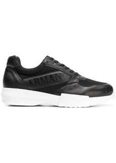 Armani logo print sneakers