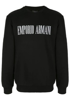 Armani logo print sweatshirt