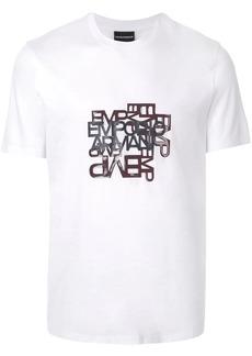 Armani logo print T-shirt