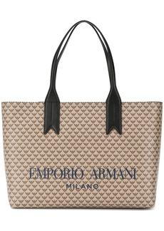 Armani logo print tote