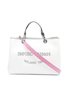 Armani logo-print tote bag