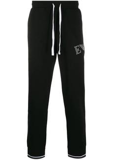 Armani logo print track pants