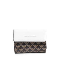 Armani logo-print tri-fold wallet