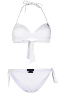 Armani logo-print two-piece bikini set