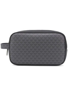 Armani logo print zipped make-up bag