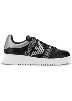 Armani logo printed low-top sneakers