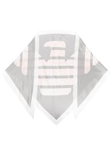 Armani logo-printed scarf