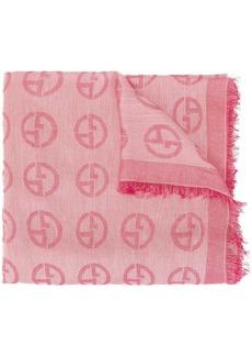 Armani logo scarf