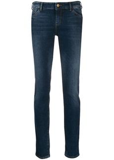 Armani logo skinny jeans