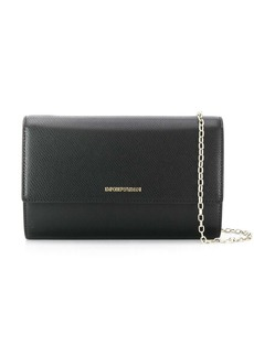 Armani logo stamp clutch bag