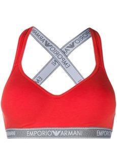 Armani logo stripe bra