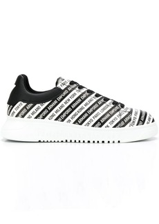 Armani logo stripe low-top sneakers