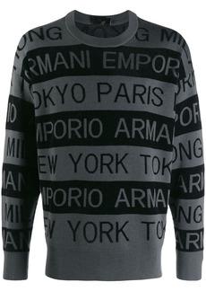 Armani logo stripe sweater