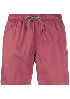 Armani logo stripe swim shorts