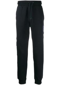 Armani logo stripe track pants