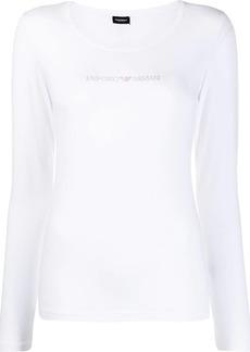 Armani logo stud T-shirt