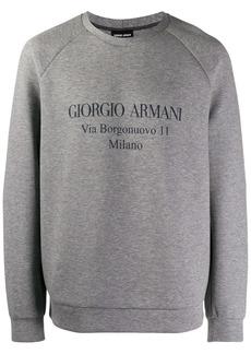 Armani logo sweater
