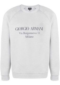 Armani logo sweatshirt
