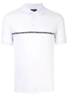 Armani logo tape polo shirt