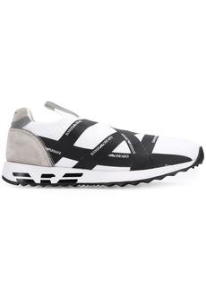 Armani logo tape slip-on sneakers