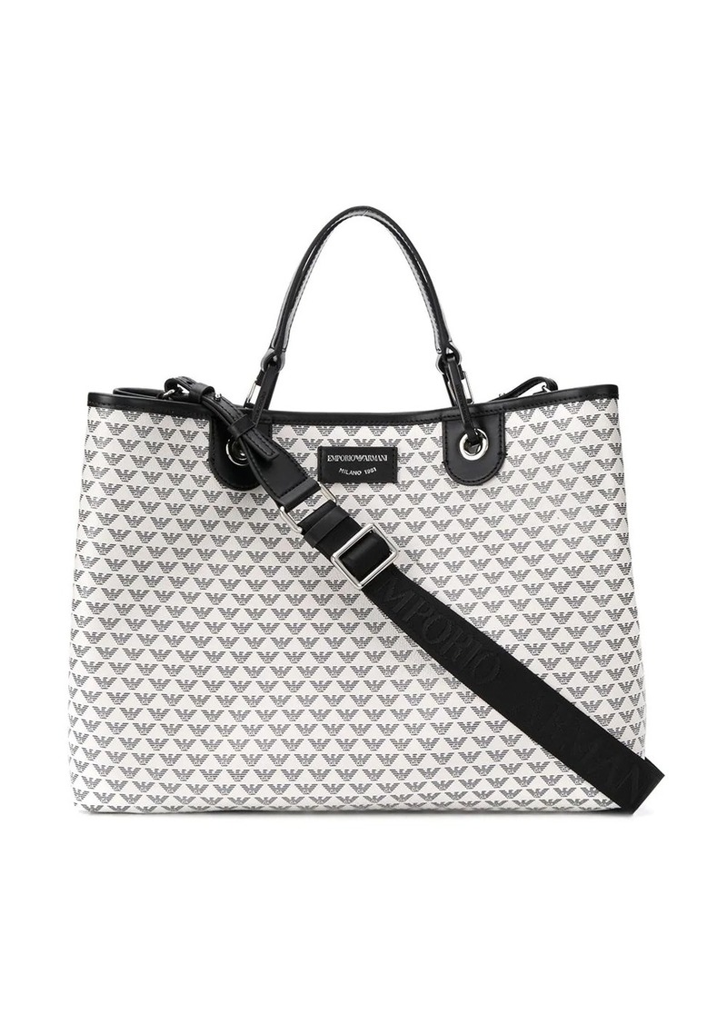 Armani logo top-handle tote