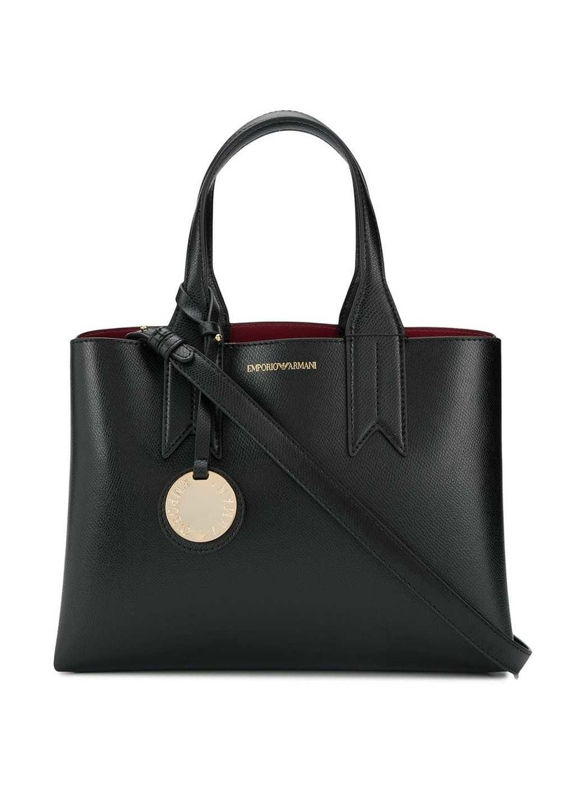 logo top-handle tote