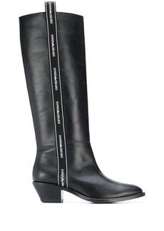 Armani logo trim boots