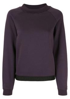 Armani logo trim sweatshirt
