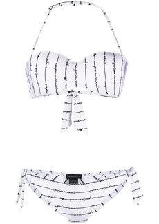 Armani logo two-piece bikini set