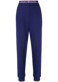 Armani logo waist track pants