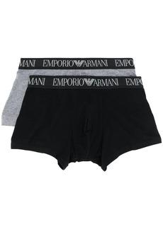Armani logo waistband boxer set