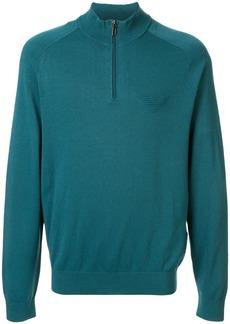 Armani logo zip-up sweatshirt