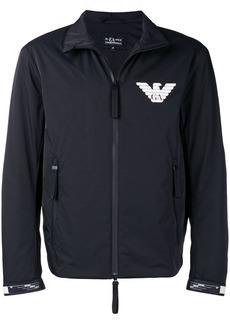 Armani logo zipped jacket