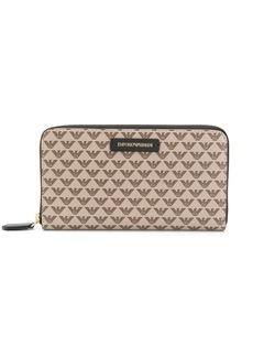 Armani logo zipped wallet