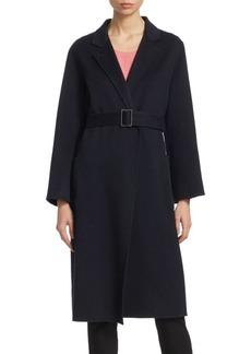 Armani Long Belted Cashmere Wrap Coat