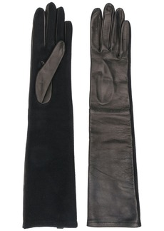 Armani long fitted gloves