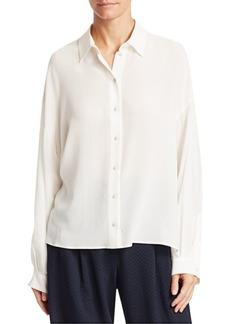 Armani Long Silk Crepe Shirt